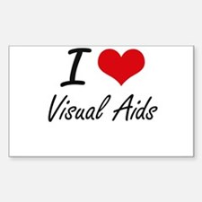 I love Visual Aids Decal