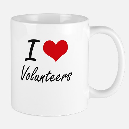 I love Volunteers Mugs