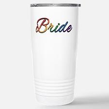 "Lesbian Pride Rainbow "" Travel Mug"
