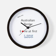 Australian Terrier Lick Wall Clock