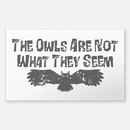 Owls Not What They Seem Decal