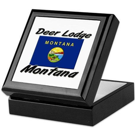 Deer Lodge Montana Keepsake Box