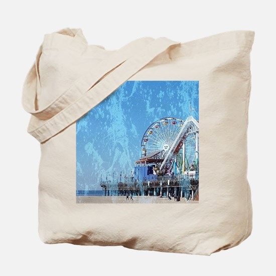 Cute Santa monica travel Tote Bag