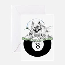 8 Ball Billiard Wolf Greeting Card