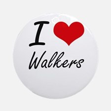 I love Walkers Round Ornament