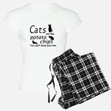 CATS ARE LIKE POTATO CHIPS. Pajamas