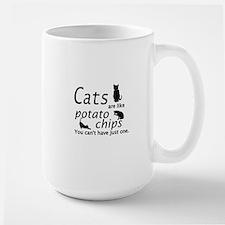 CATS ARE LIKE POTATO CHIPS... Mug