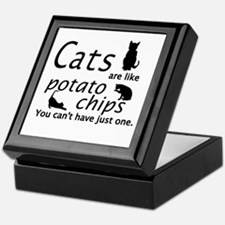 CATS ARE LIKE POTATO CHIPS... Keepsake Box