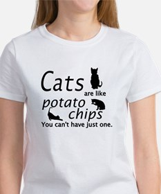 CATS ARE LIKE POTATO CHIPS... Tee