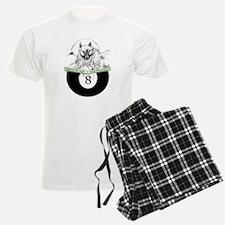 8 Ball Billiard Wolf Pajamas