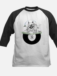 8 Ball Billiard Wolf Kids Baseball Jersey