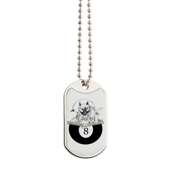 8 Ball Billiard Wolf Dog Tags