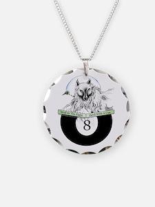 8 Ball Billiard Wolf Necklace Circle Charm