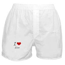 I love Warm Boxer Shorts