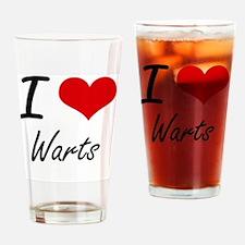 I love Warts Drinking Glass