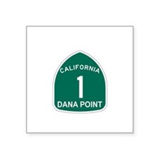 "Unique Carmel highway Square Sticker 3"" x 3"""