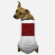 Black And Red Damask Dog T-Shirt