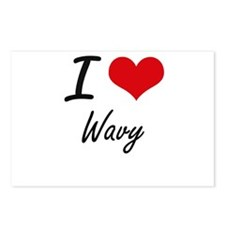 I love Wavy Postcards (Package of 8)