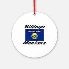 Billings Montana Ornament (Round)
