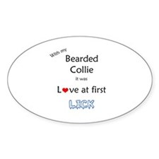 Bearded Lick Oval Decal