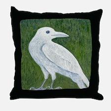 White Crow Throw Pillow