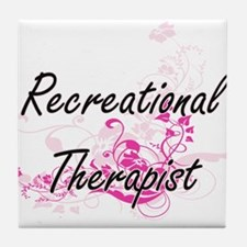 Recreational Therapist Artistic Job D Tile Coaster