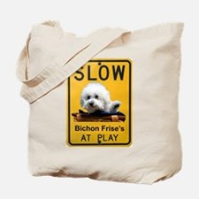 bichons at play Tote Bag