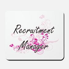 Recruitment Manager Artistic Job Design Mousepad
