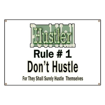 Pool Hall Hustler House Rules Banner