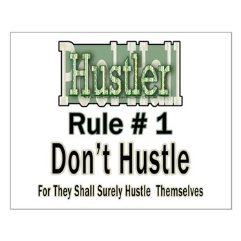Pool Hall Hustler House Rules Small Poster