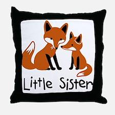 Little Sister - Fox Throw Pillow