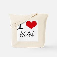 I love Welsh Tote Bag