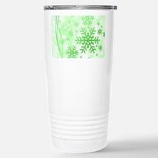Snowflakes Christmas Travel Mug