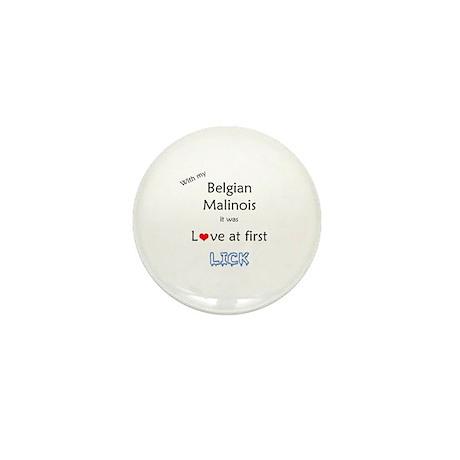 Malinois Lick Mini Button