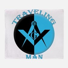 The Traveling Man Throw Blanket