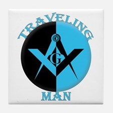 The Traveling Man Tile Coaster