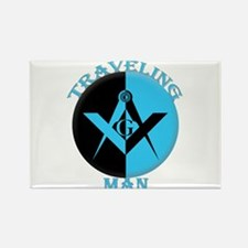 The Traveling Man Rectangle Magnet