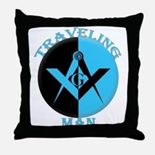 The Traveling Man Throw Pillow