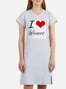 I love Wieners Women's Nightshirt