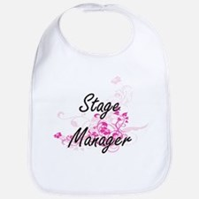 Stage Manager Artistic Job Design with Flowers Bib