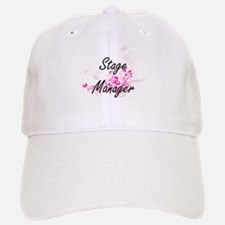 Stage Manager Artistic Job Design with Flowers Baseball Baseball Cap