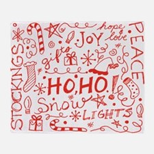 Holiday Doodles Throw Blanket