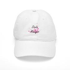 Studio Manager Artistic Job Design with Flower Baseball Cap
