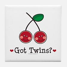 Got Twins Cherry Twin Tile Coaster