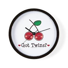 Got Twins Cherry Twin Wall Clock