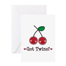 Got Twins Cherry Twin Greeting Card