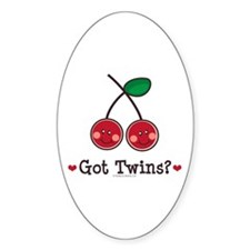 Got Twins Cherry Twin Oval Decal
