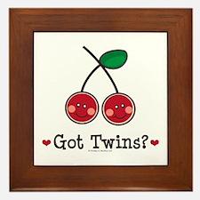 Got Twins Cherry Twin Framed Tile