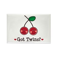 Got Twins Cherry Twin Rectangle Magnet