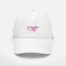 Tax Accountant Artistic Job Design with Flower Baseball Baseball Cap